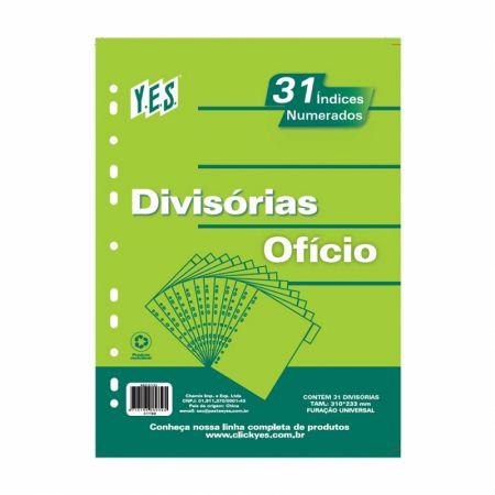 Divisória 1 a 31 numerada cinza - 31TBB - Yes