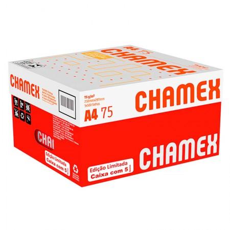 Papel sulfite A4 75g 210x297 com 5 resmas cx 2500 fls Chamex