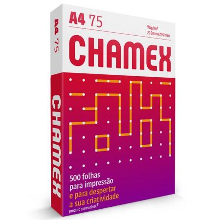 Papel sulfite A4 75g - 210x297 - com 5 resmas cx 2500 fls Chamex