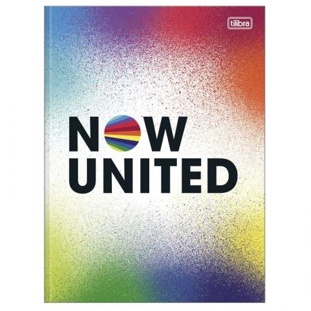 Caderno brochurão capa dura universitário 1x1 - 80 folhas - Now United - Capa 1 - Tilibra