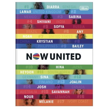 Caderno brochurão capa dura universitário 1x1 - 80 folhas - Now United - Capa 2 - Tilibra