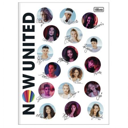 Caderno brochurão capa dura universitário 1x1 - 80 folhas - Now United - Capa 3 - Tilibra