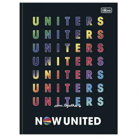Caderno brochurão capa dura universitário 1x1 - 80 folhas - Now United - Capa 4 - Tilibra