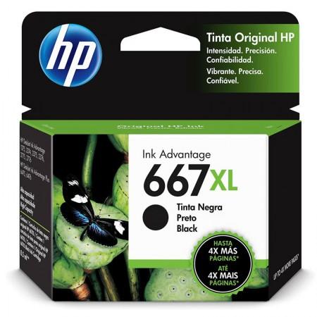 Cartucho HP Original (667XL) 3YM81AL - preto rendimento 480 páginas