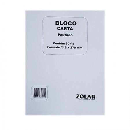 Bloco aristocrata carta com pauta - com 50 folhas -  Zolar Papeis