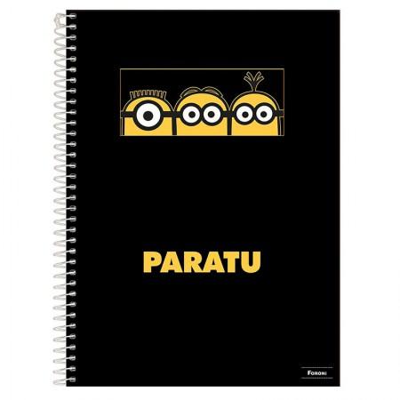 Caderno espiral capa dura universitário 1x1 - 96 folhas - Minions - Capa 4 - Foroni