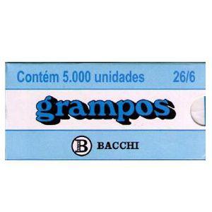 Grampo cobreado 26/6 - com 5000 unidades - Bacchi
