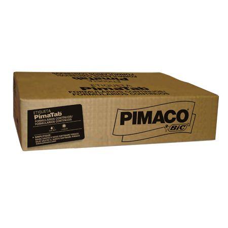 Etiqueta formulário contínuo 1 carreira - 128X74 - caixa com 2000 - Pimaco