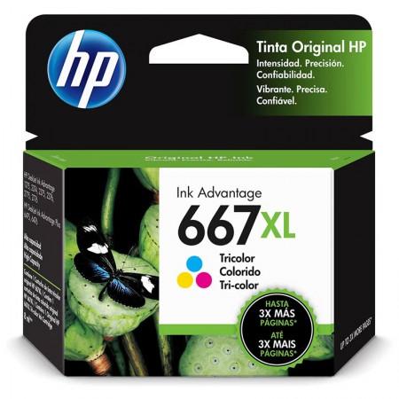 Cartucho HP Original (667XL) 3YM80AL - cores rendimento 300 páginas
