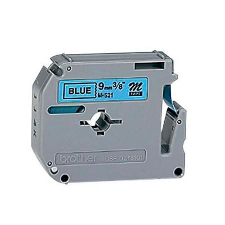 Fita para rotulador 9mm - M521 - azul escrito em preto - Brother