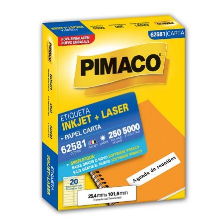 Etiqueta inkjet/laser carta 62581 - com 250 folhas - Pimaco