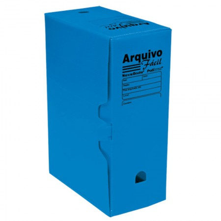 Arquivo morto plástico gigante novaonda azul - Polibras