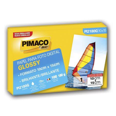 Papel glossy 10x15 - PI2180G - com 100 folhas - Pimaco