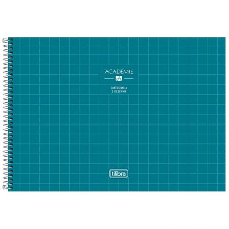 Caderno espiral capa dura cartografia - 80 folhas - Academie - Pink - Tilibra