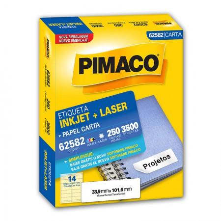 Etiqueta inkjet/laser carta 62582 - com 250 folhas - Pimaco