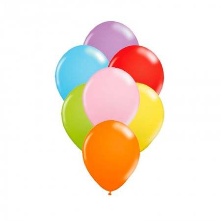Bexiga cores número 7 - Art Festa - com 50 unidades - Balloontech
