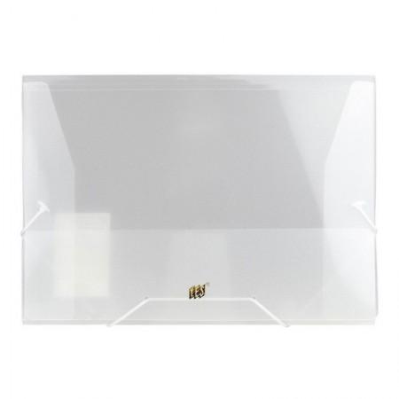 Pasta transparente aba elástico ofício - cristal - P02BS - Yes