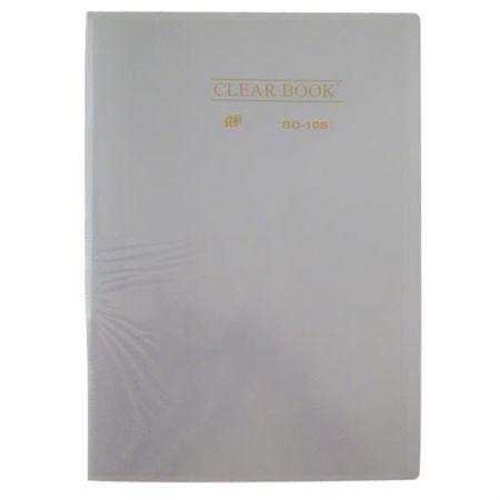 Pasta catálogo transparente - cristal - BD10S - com 10 plásticos - Yes