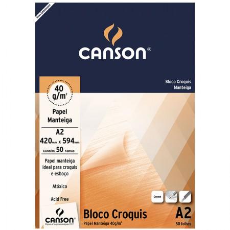 Bloco croquis manteiga A2 40g - com 50 folhas - Canson