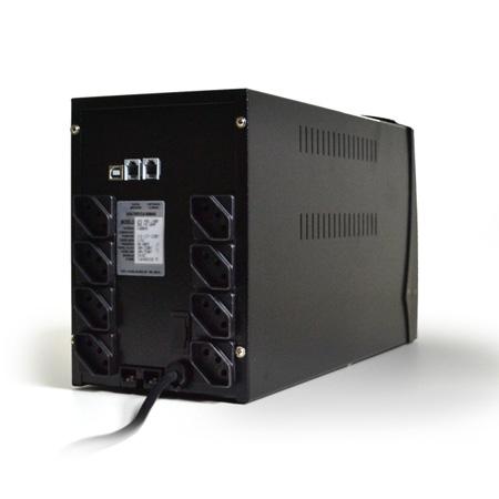 No-break 110v 1200VA preto - UPS Profissional 343 - 8 tomadas - Ts Shara