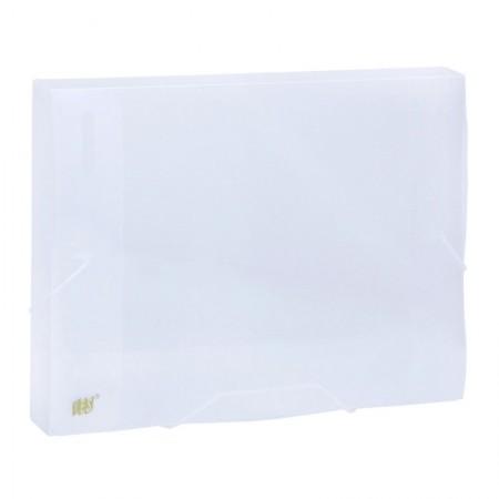 Pasta com aba elástico ofício lombo 20mm - transparente cristal - CX020S/CR - Yes