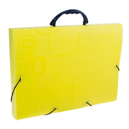 Maleta com alça Dellofine ofício - amarela - 2152.A - Dello