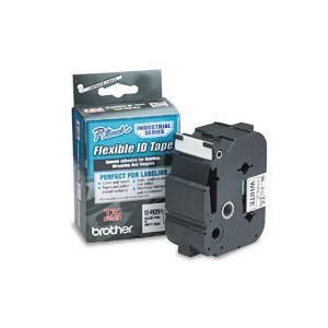 Fita para rotulador 36mm laminada flexível - TZFX261 - branca escrita em preto - Brother