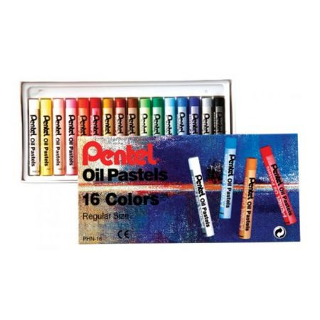 Giz pastel oleoso PHN-16 - com 16 cores - Pentel