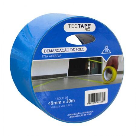 Fita para demarcação de solo 48x30 - azul - Tectape