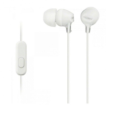Fone de ouvido com microfone MDR-EX15AP branco - Sony