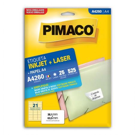 Etiqueta inkjet/laser A4260 - com 25 folhas - Pimaco