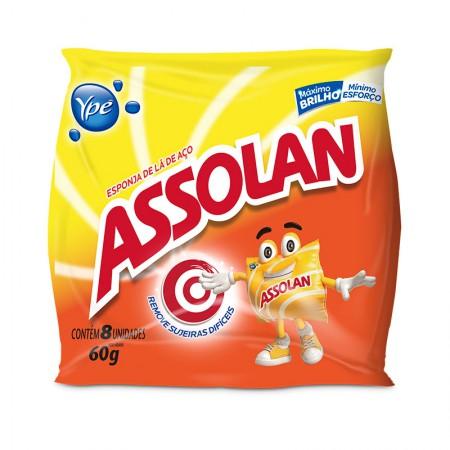 Esponja de lã de aço - pacote com 8 unidades - Assolan