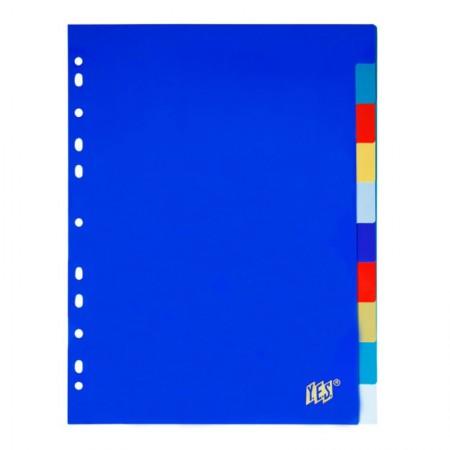 Divisória colorida opaca A4 - 10 projeções - 10TBA - Yes