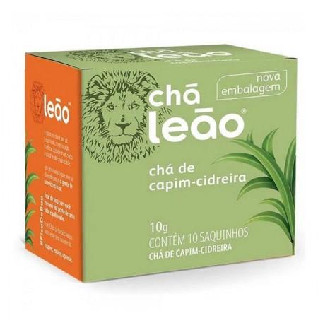 Chá de capim cidreira - com 10 unidades - Leão Fuze