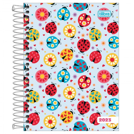 Agenda espiral diária Pepper Feminina 2020 - Flores - Tilibra