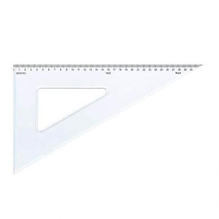 Esquadro acrílico 32cm x 60 graus com escala 1632 - Trident