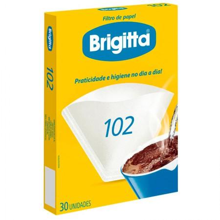 Filtro de papel 102 - caixa com 30 unidades - Brigitta