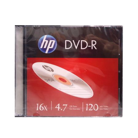 DVD-R virgem 4.7GB 120 minutos - slim - HP