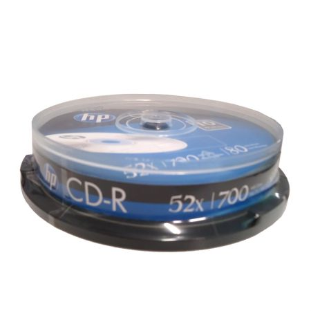 CD-R virgem 700MB 80 minutos - pino com 10 unidades - HP