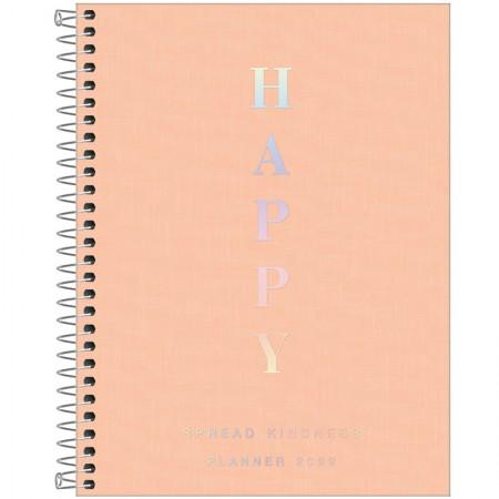 Agenda planner espiral semanal Happy 2022 Coral pastel - Tilibra