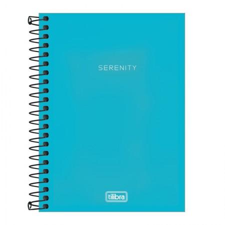 Caderneta capa plástica 1/8 Neon Azul S/P 80 Fls - Tilibra
