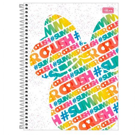 Caderno espiral capa dura universitário 1x1 - 80 folhas - Minnie Fashion - Capa 1 - Tilibra