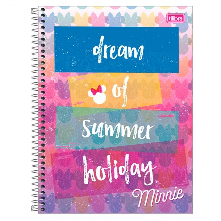 Caderno espiral capa dura universitário 1x1 - 80 folhas - Minnie Fashion - Capa 2 - Tilibra