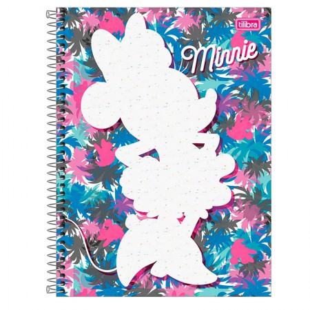 Caderno espiral capa dura universitário 1x1 - 80 folhas - Minnie Fashion - Capa 4 - Tilibra