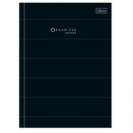 Caderno costurado com pauta capa dura - 80 folhas - Organizer - Tilibra