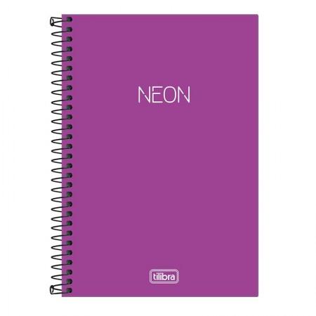 Caderno espiral capa dura sem pauta Pequeno 1/4 - 80 folhas - Neon Lilás - Tilibra