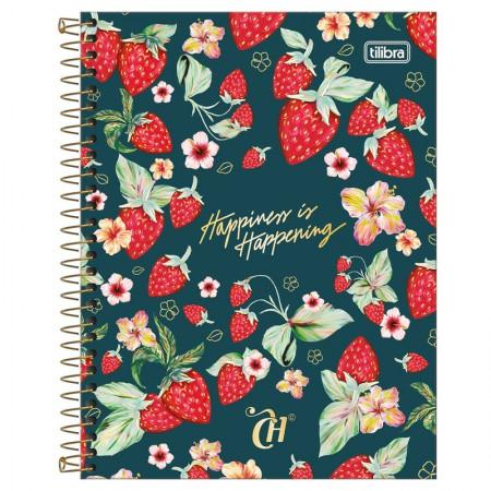 Caderno colegial capa dura 1x1 - 80 folhas - Capricho - Tilibra