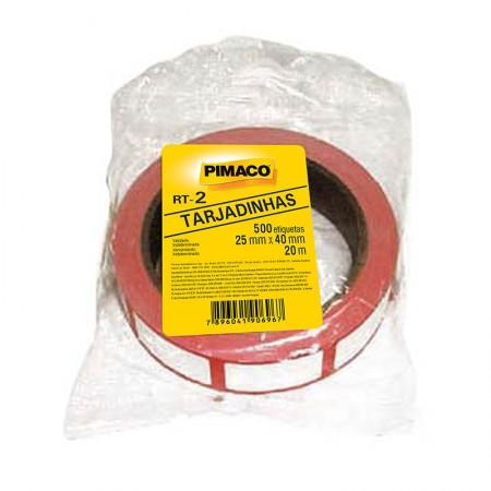 Etiqueta para preço RT-2 - rolo com 20 metros - tarjadinhas - Pimaco
