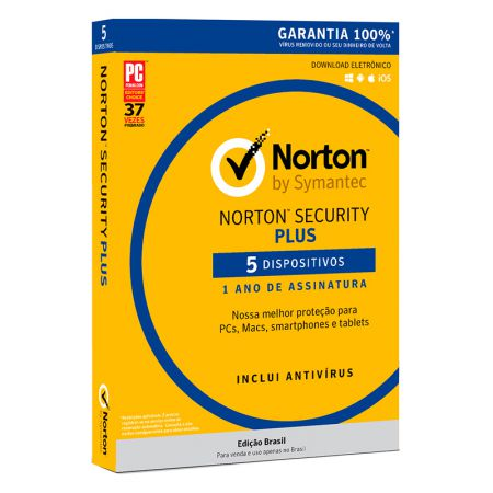 Antivírus Norton Security 3.0 licença de uso - 5 dispositivos - Symantec