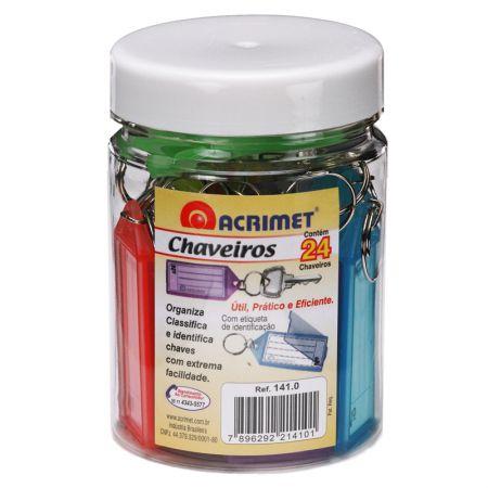 Chaveiro com etiqueta pote - com 24 unidades - 141.0 - Acrimet